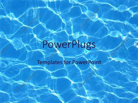 powerpoint template blue water reflections  pool summer