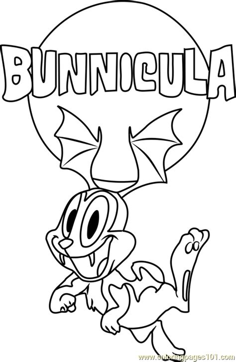 bunnicula flying coloring page  bunnicula coloring pages coloringpagescom
