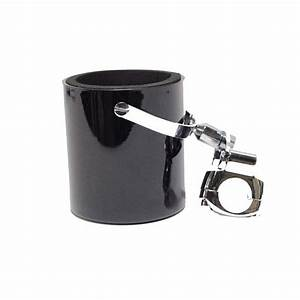 Shiny Black Motorcycle Cup Holder