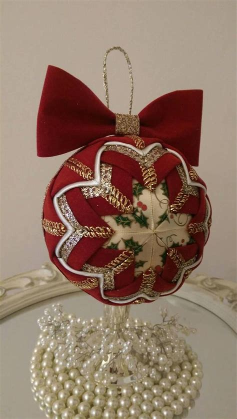 burgundy velvet quilted bauble royal ornament burgundy