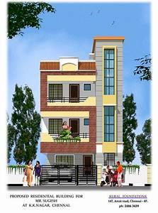 3d design of house Exterior GharExpert