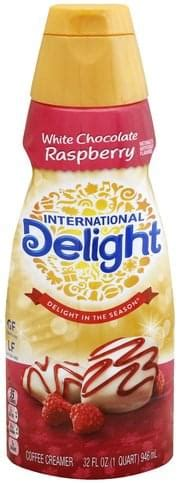When it comes to coffee, everyone seems to like it a different way. International Delight White Chocolate Raspberry Coffee Creamer - 32 oz, Nutrition Information ...