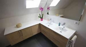 Meuble Pour Comble : meuble double vasque sous rampant un maximum de rangement ~ Edinachiropracticcenter.com Idées de Décoration