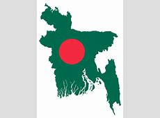 OnlineLabels Clip Art Bangladesh Map Flag
