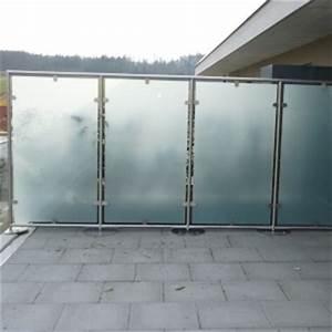 sichtschutz balkon panther glas ag With whirlpool garten mit glas windschutz für balkon