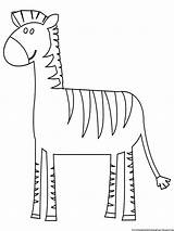 Coloring Zebra Printable Realistic Paint Activity Few Boys Below sketch template