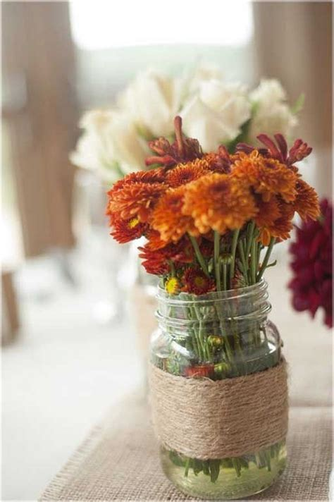 fall centerpieces with jars 20 centerpiece ideas for fall weddings