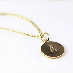 tiny personalized monogram initial necklace letter pendant With monogram necklace letter order