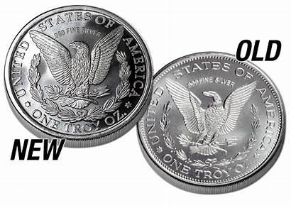 Silver Morgan Round Reverse Dollar Dies Die