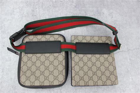 gucci  pouch gg supreme belt bag  jills consignment