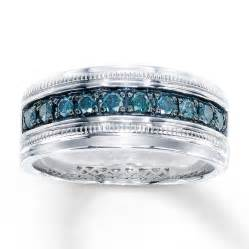 jewelers s wedding rings 39 s blue ring 1 2 ct tw cut sterling silver