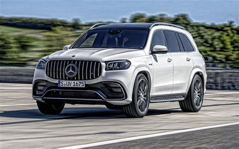 View pictures, specs, pricing & warranty info. Download wallpapers 2021, Mercedes-AMG GLS 63 4MATIC, front view, exterior, white suv, new white ...