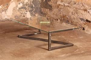 Table Basse Verre Et Acier : barnab design table basse m tis verre securit pi tement acier bross ~ Teatrodelosmanantiales.com Idées de Décoration