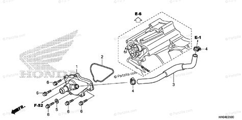 Honda Atv Oem Parts Diagram For Water Pump Cover