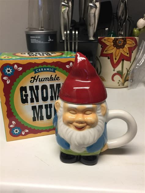 Coffee is a perishable good: Gnome mug - my new favorite way to drink coffee! - Arbitrary Day 2017 - redditgifts