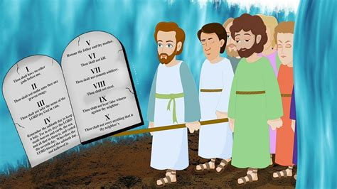 moses    commandments  kids bible animated