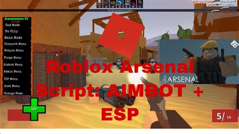 roblox arsenal aimbot esp script working  youtube