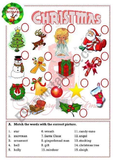 christmas esl worksheet  isaserra