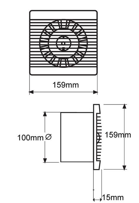 bathroom exhaust fan size bas100slt bathroom kitchen toilet wall mounted extractor