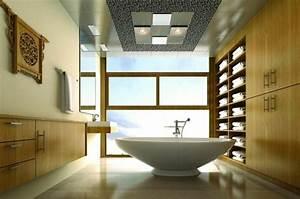 Peinture plafond salle de bain dootdadoocom idees de for Salle de bain design avec plaque décorative plafond