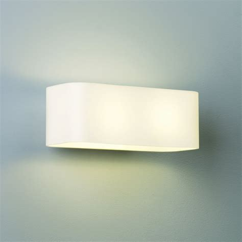 obround 0408 white glass interior lighting wall lights