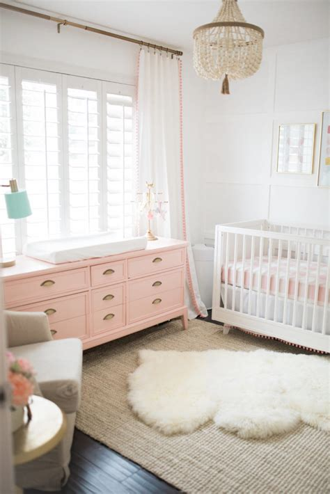 The Posh Home Bright White And Pink Baby Girl Nursery