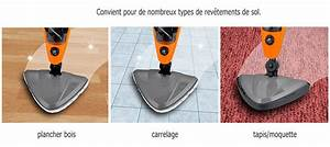 Nettoyeur Vapeur Moquette : super balai vapeur multi 10 en 1 nettoyeur steam orange ~ Premium-room.com Idées de Décoration