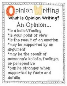 3rd Grade Opinion Writing Examples