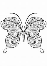 Butterfly Coloring Adult Pages Adults Butterflies Patterns Insects Insect Books Print Printable Mandala Butterflys Animals Animal Drawing Issuu Coloriage Mandalas sketch template