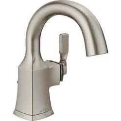 kitchen faucet spout shop delta sawyer spotshield brushed nickel 1 handle