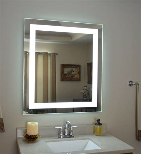 Lighted Mirrors Bathroom by Mam83236 32 Quot Wide X 36 Quot Lighted Vanity Mirror Led