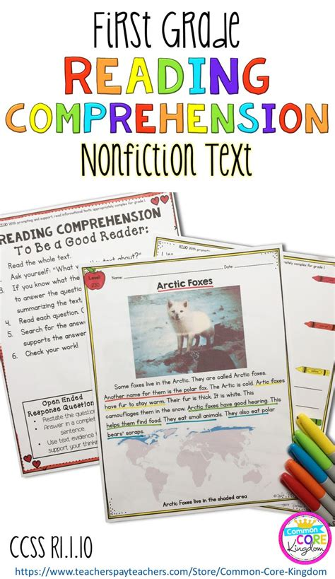 comprehension test nonfiction reading comprehension ri 1 10 common