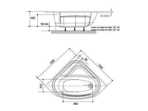 Baignoire Angle 120 Cm Gain De Place Varia Avec Réflex®