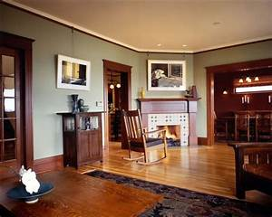 mission style paint colors craftsman living room by With interior paint colors for craftsman home