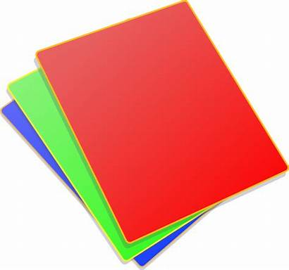 Paper Clipart Colored Clip Sheets Paperclip Coloured