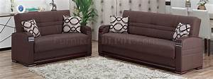 alpine sofa bed in brown bonded leather by empire w options With bonded leather sofa bed