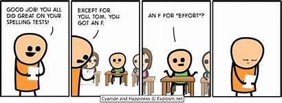 Spelling Test Happiness Cyanide Funny Comic Comics