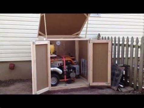storage container with lid outdoor enclosure for portable generator