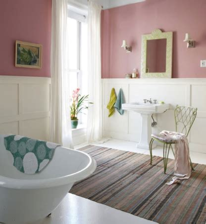 Pink Bathroom Color Schemes by Fussy Pink Sw 6853 Paint Colors For Bathrooms Shabby