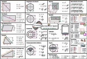 Formeln Berechnen : formelblatt geometrie formeln ~ Themetempest.com Abrechnung