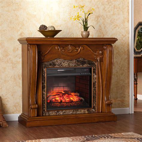 harper blvd sandro walnut infrared electric fireplace
