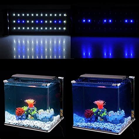 blue led aquarium light amzdeal 30cm 30 white 8 blue aquarium light dimmable