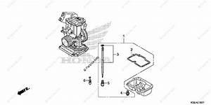 Honda Motorcycle 2015 Oem Parts Diagram For Carburetor