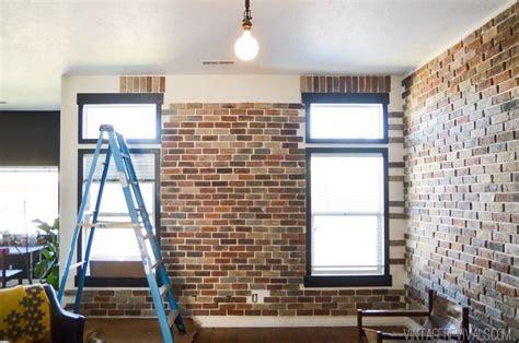 faux brick veneer wall house transformations brick