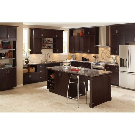 java cabinets kitchen hton bay 1 5x34 5x24 in dishwasher end panel in java 2044