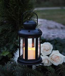 Laterne Garten Kerze : laterne mit led kerze warmwei 6 18h timer gartenlaterne ~ Lizthompson.info Haus und Dekorationen