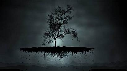Tree Cool Abstract Dark Floating Roots Windows