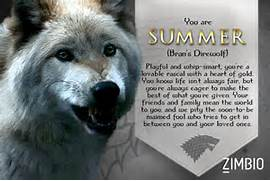 Which  Game of Thrones  Direwolf Are You  - Quiz - Zimbio  Direwolf Game Of Thrones Nymeria
