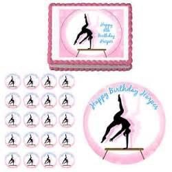gymnastics gymnast edible birthday party cake cupcake