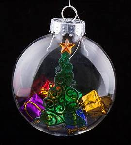 Christmas, Tree, Ornament, Filled, With, Presents